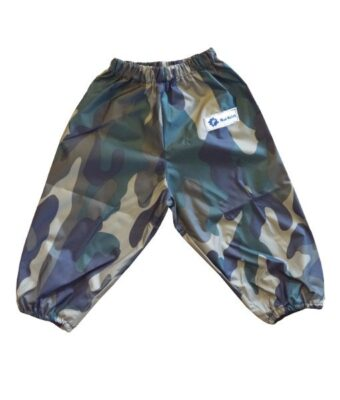 Waterproof Green Camo Children's Overpants