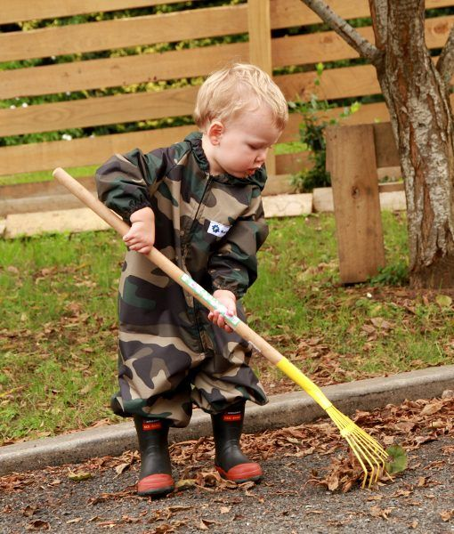 Kids Waterproof Camo Coveralls