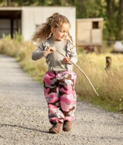 Pink Camo Waterproof Children's Overpants