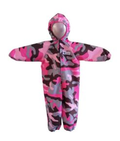 Pink Camo Coveralls for Babies, Toddlers and Children