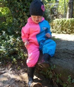 Turquoise and Pink Children's Coveralls