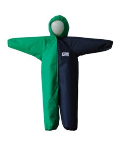 Navy and Green Children's Coveralls