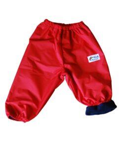 Red Fleece Lined Overpants
