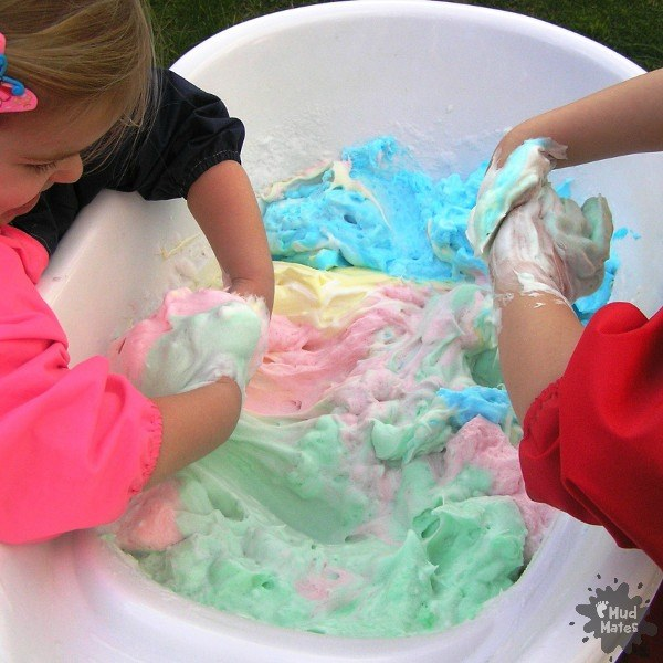 Colourful Soap Slime - Messy Play Blog