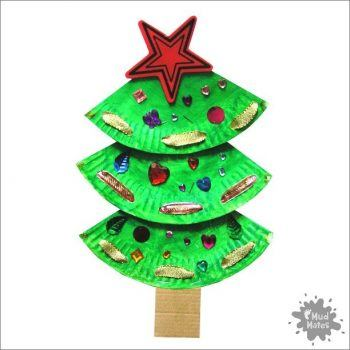 Mud Mates Messy Play Blog: Paper Plate Christmas Tree