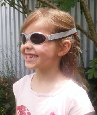 Silver Rose Leaf Kids Sunglasse