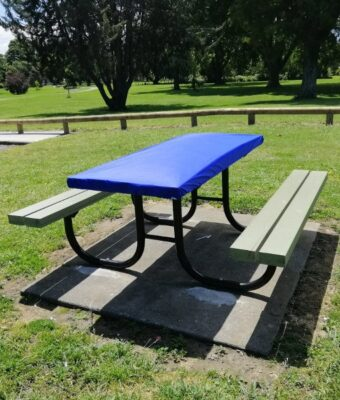 Royal Blue Fitted Picnic Table Covers
