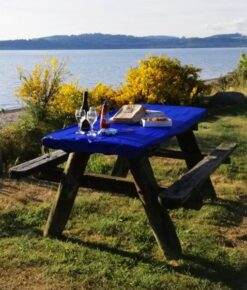 Royal Blue Picnic Table Covers
