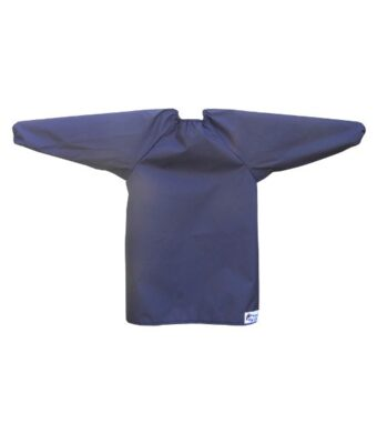 Navy Long Sleeve Bibs for Toddlers and Preschoolers