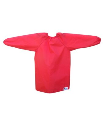 Red Long Sleeve Bibs for Toddlers and Preschoolers
