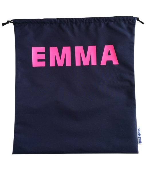 Personalised Navy Drawstring Swim Bags / Wet Bags for Kids