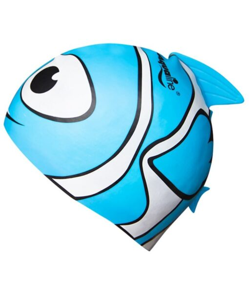 Blue fish kids swim caps
